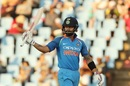 Virat Kohli made his fourth fifty-plus score of the series, South Africa v India, 6th ODI, Centurion, February 16, 2018