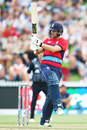 Dawid Malan plays the pull, New Zealand v England, Trans-Tasman T20 tri-series, Hamilton, February 18, 2018