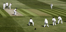 Scott Richardson waits and watches Jimmy Ormond bowl, County Championship, Yorkshire v Surrey, Headingley, April 24, 2002