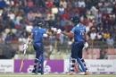 Kusal Mendis and Danushka Gunathilaka punch gloves, Bangladesh v Sri Lanka, 2nd T20I, Sylhet