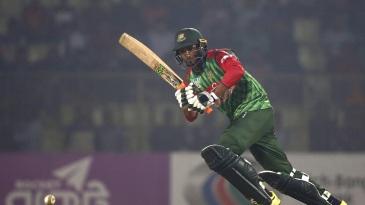 Mahmudullah turns the ball to the leg side