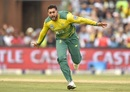 Tabraiz Shamsi is over the moon after dismissing Virat Kohli, South Africa v India, 1st T20I, Johannesburg, February 18, 2018