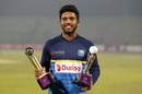 Kusal Mendis scooped the Player of the Match and the Player of the Series awards, Bangladesh v Sri Lanka, 2nd T20I, Sylhet