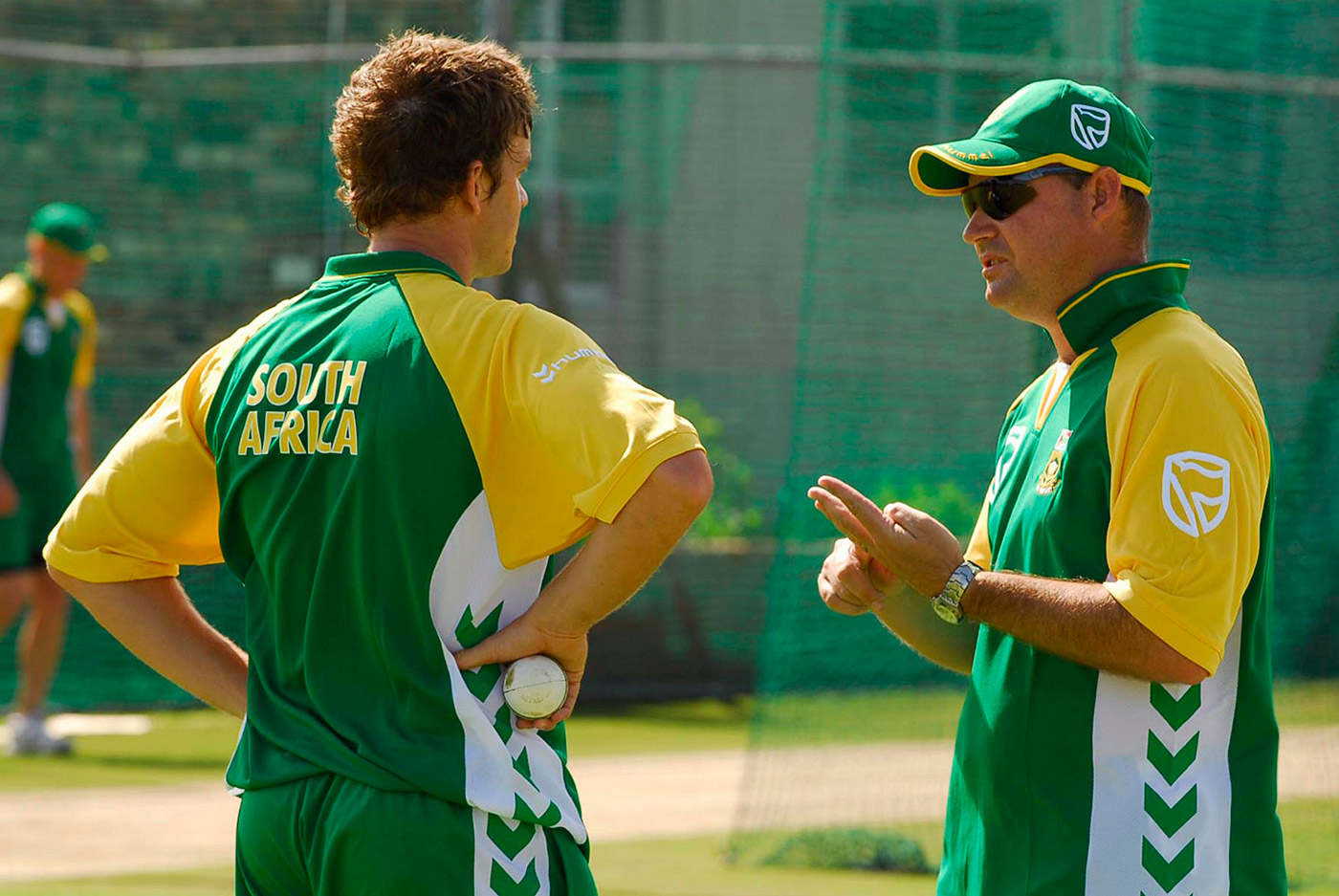 With Mickey Arthur: