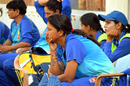 Rumeli Dhar looks on from the dugout, Delhi v Maharashtra, Senior Women's T20 League 2018, Mumbai, January 25, 2018