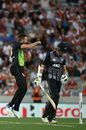 Andrew Tye removed Mitchell Santner as New Zealand floundered, New Zealand v Australia, T20 Tri-Series final, Auckland, February 21, 2018