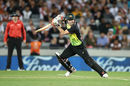 David Warner drives through the covers, New Zealand v Australia, T20 Tri-Series final, Auckland, February 21, 2018