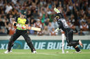 David Warner was bowled by Ish Sodhi for 25, New Zealand v Australia, T20 Tri-Series final, Auckland, February 21, 2018