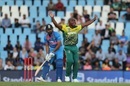 Junior Dala appeals for Rohit Sharma's wicket, South Africa v India, 2nd T20I, Centurion, February 21, 2018