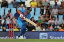 Suresh Raina taps the ball down the ground, South Africa v India, 2nd T20I, Centurion, February 21, 2018