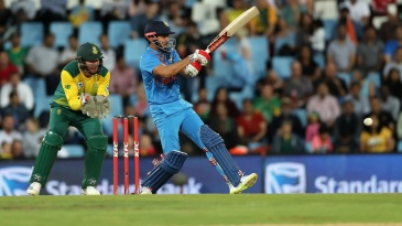Manish Pandey flicks the ball towards the leg side