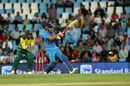 Manish Pandey flicks the ball towards the leg side, South Africa v India, 2nd T20I, Centurion, February 21, 2018