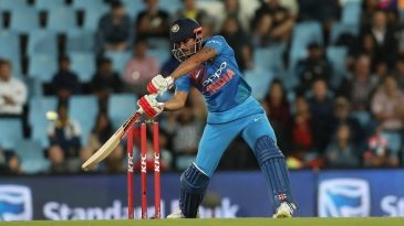 Manish Pandey carves the ball over point