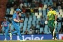 Suresh Raina is elated with the fall of a wicket, South Africa v India, 2nd T20I, Centurion, February 21, 2018
