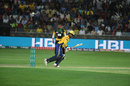 Mohammad Hafeez slices through the off side, Peshawar Zalmi v Multan Sultans, PSL 2018, Dubai, February 22, 2018