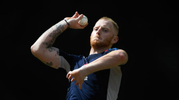 Ben Stokes bowls in the nets
