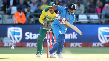 Suresh Raina steers one onto the leg side