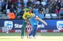 Suresh Raina steers one onto the leg side, South Africa v India, 3rd T20I, Cape Town, February 24, 2018