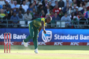 Junior Dala in his follow through, South Africa v India, 3rd T20I, Cape Town, February 24, 2018