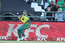 Farhaan Behardien settles underneath Suresh Raina's catch, South Africa v India, 3rd T20I, Cape Town, February 24, 2018