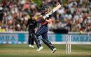 Jos Buttler plays a pull, New Zealand v England, 1st ODI, Hamilton, 25 February, 2018