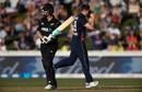 Colin Munro was caught behind off Chris Woakes, New Zealand v England, 1st ODI, Hamilton, 25 February, 2018