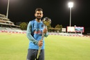 Virat Kohli poses with the Test mace, Cape Town, February 24, 2018