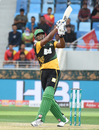 Kieron Pollard smashes one into the leg side, Multan Sultans v Islamabad United, PSL 2018, Dubai, February 25, 2018