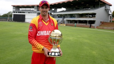 Graeme Cremer poses with the World Cup qualifier trophy