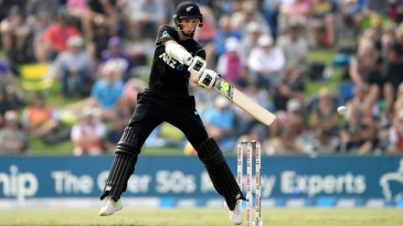 Mitchell Santner struck a fine fifty