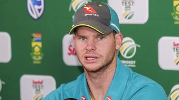 Steven Smith addresses a press conference in Durban