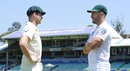 Steven Smith and Faf du Plessis share a moment before the trophy presentation, Durban, February 28, 2018