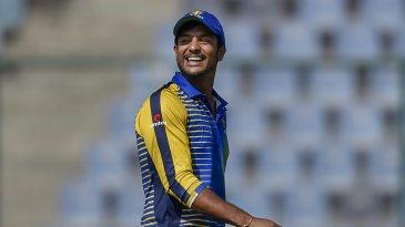 Mayank Agarwal finds a reason to smile during the Vijay Hazare final