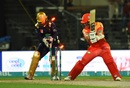 Luke Ronchi gets bowled by Hasan Khan, Quetta Gladiators v Islamabad United, PSL 2018, Sharjah, February 28, 2018
