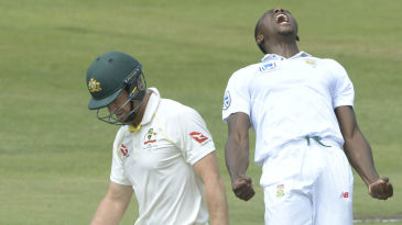 Kagiso Rabada claimed the wicket of Tim Paine with the second new ball