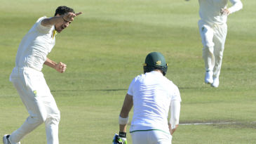 Mitchell Starc removed Faf du Plessis