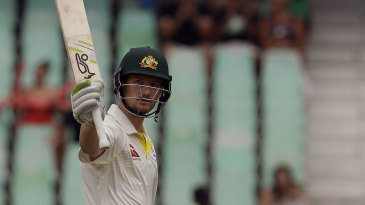 Cameron Bancroft recorded his second Test fifty