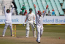 Dean Elgar won an lbw decision against Steven Smith, South Africa v Australia, 1st Test, Durban, 3rd day, March 3, 2018