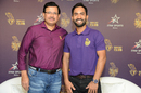 Kolkata Knight Riders CEO Venky Mysore shares the stage with the side's newly appointed captain Dinesh Karthik, Mumbai, March 4, 2018