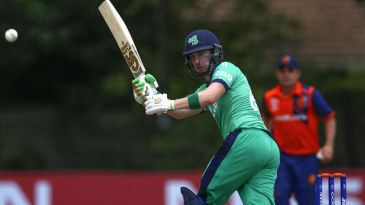Andy Balbirnie in action at the World Cup Qualifiers in Zimbabwe