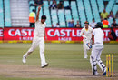 Mitchell Starc roared in to remove the tail, South Africa v Australia, 1st Test, Durban, 4th day, March 4, 2018
