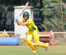Beth Mooney bunts one away through the covers, India A v Australia, 1st warm-up, Mumbai, March 6, 2018