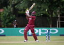 Chris Gayle powers one down the ground, UAE v West Indies, World Cup Qualifiers, Harare, March 6, 2018