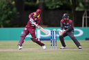 Shimron Hetmyer sets himself to power one away, UAE v West Indies, World Cup Qualifiers, Harare, March 6, 2018