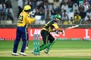 Sohail Maqsood plays a late cut, Multan Sultans v Peshawar Zalmi, PSL 2018, Sharjah, March 6, 2018