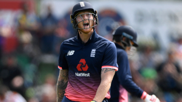 Ben Stokes admonishes himself after getting out