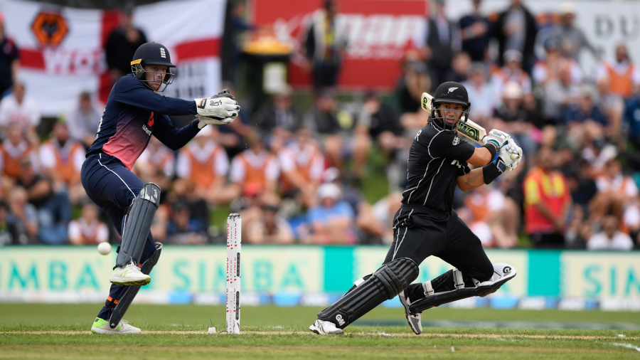 Ross Taylor cuts one away