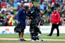 Ross Taylor gets treatment during his century, New Zealand v England, 4th ODI, Dunedin