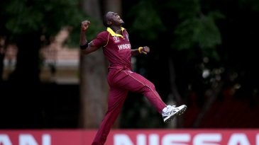 Carlos Brathwaite is beside himself with joy
