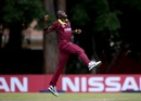 Carlos Brathwaite is beside himself with joy, Papua New Guinea v West Indies, World Cup Qualifier, Harare, March 8, 2018